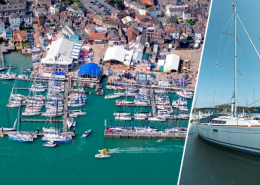 سیستم هوشمند نظارت تصویری وایرلس هایک ویژن برای بندر قایق های بادبانی جزیره وایت در انگلستان