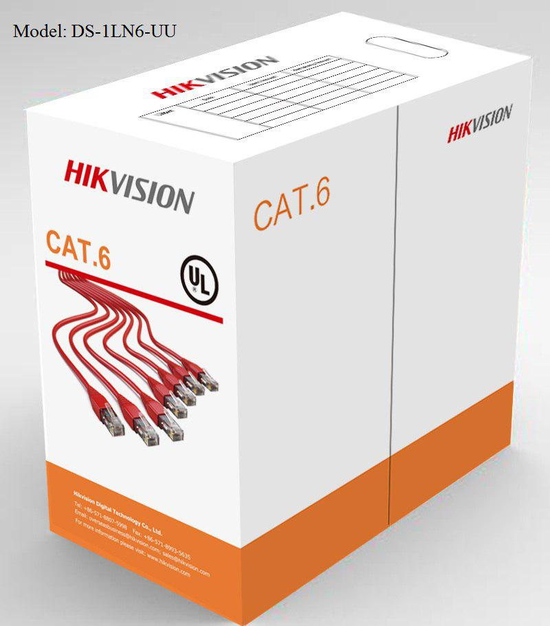 کابل شبکه Cat6 هایک ویژن مدل DS-1LN6-UU